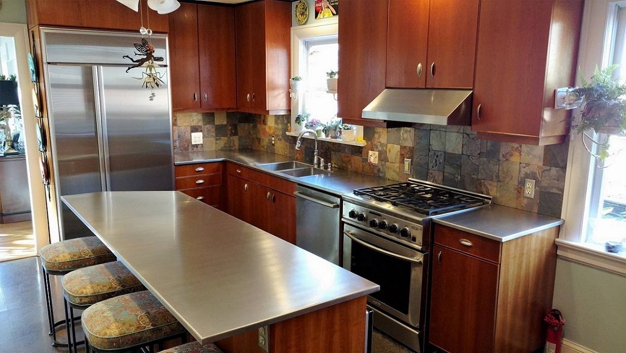 Stainless Steel Is Easy To Clean And Used In Most Commercial Kitchens. You  Cannot Go Wrong With Stainless Steel Countertops.